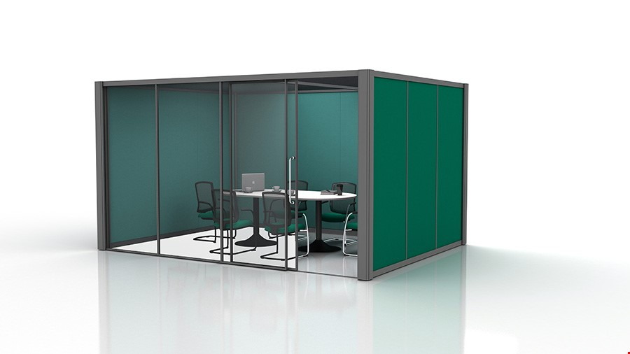 4m x 3m Acoustic Office Pods With Glass Partition