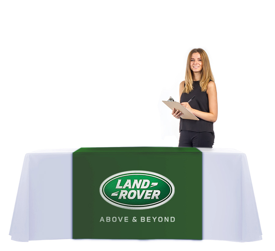 Exhibition Tablecloth with Printed Table Runner Set