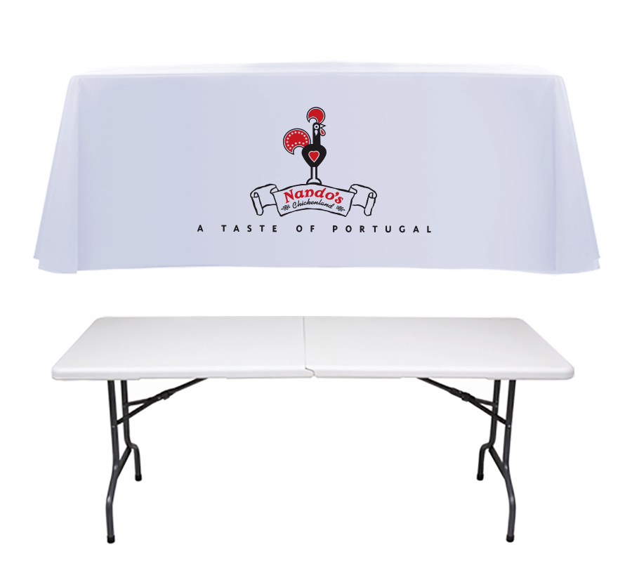 Printed Tablecloth and Folding Exhibition Stand Table