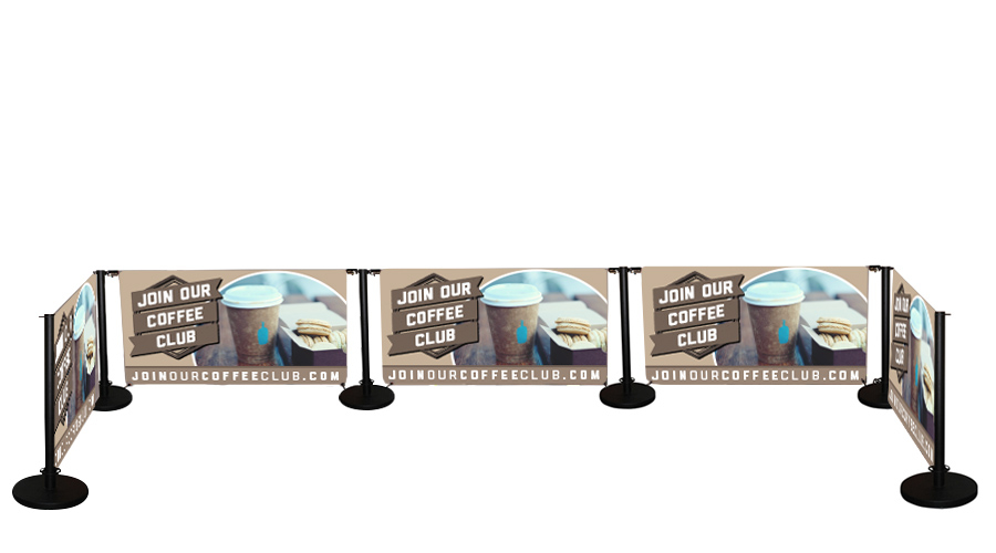 Cafe Banner Standard Printed 5 Banners