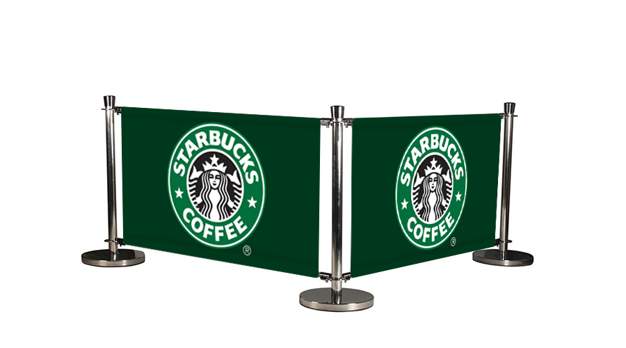 Cafe Barrier System Deluxe 2 Banners