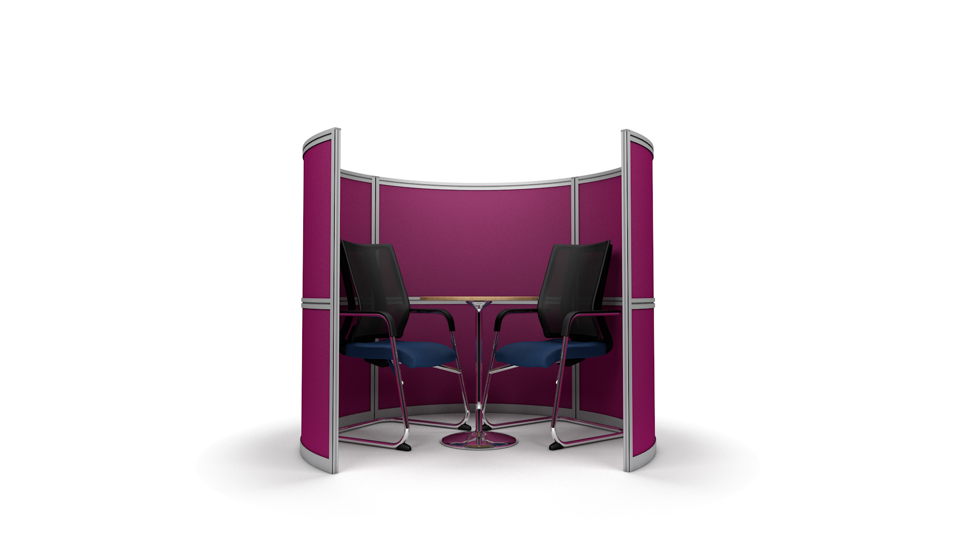 2 Person Curved Office Meeting Pod 1.7m Wide