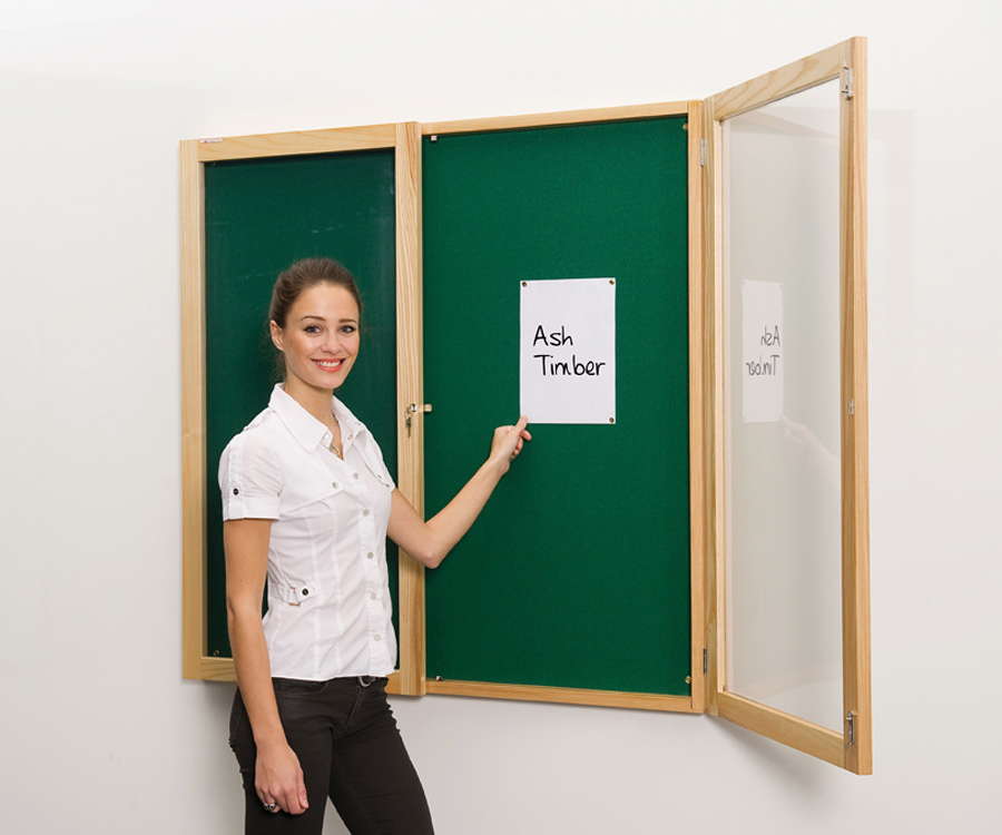 Decorative Wood Framed Tamperproof Noticeboards
