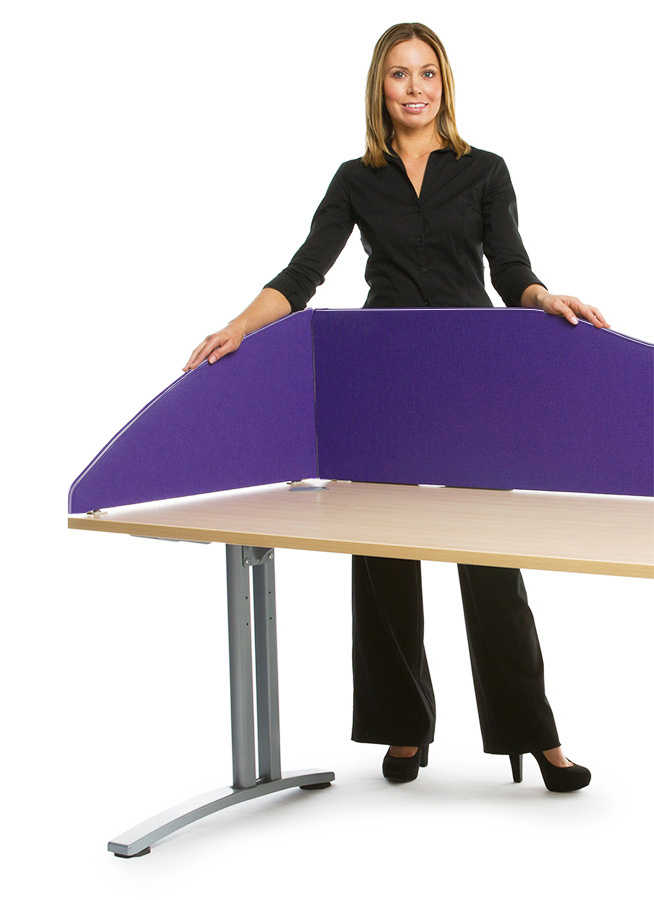 Smarty Fabric Radius Office Desk Screen