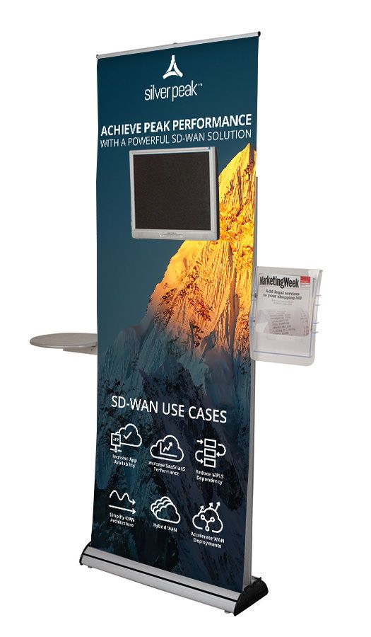 Excaliber 2 Roller Banner with Monitor Bracket Accessories