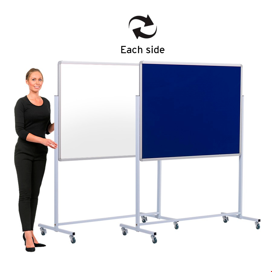 Mobile Whiteboard and Pinboard Combi