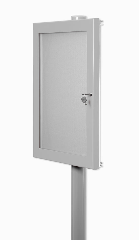 External Notice Board Exterior Single Post Mounted
