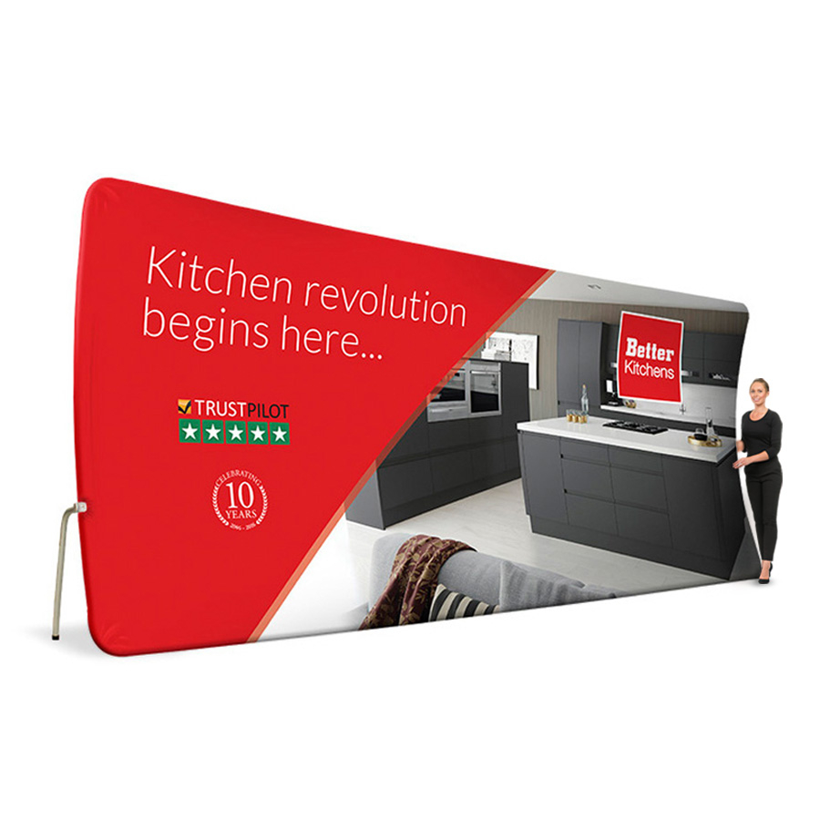 Formulate Vertical Curve Tension Fabric Display 6100mm