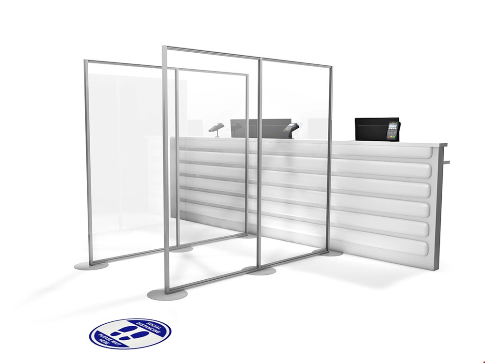 Free Standing Social Distance Screen For Shops
