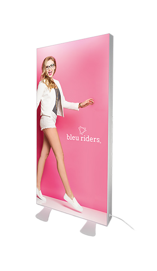 Freestanding LED Exhibition Light Box 125mm Frame