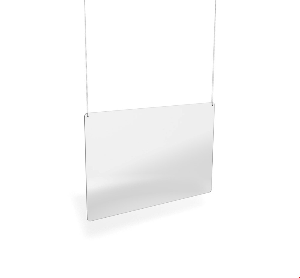 Hanging Ceiling Mounted Perspex Protection Screen