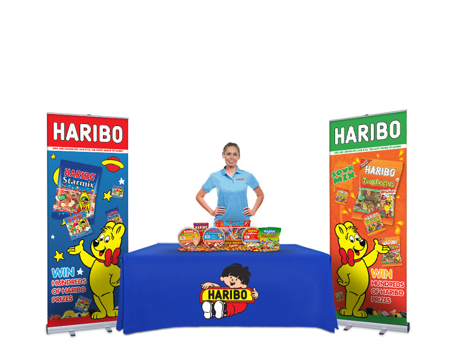 Printed Tablecloth and Roller Banner Bundle