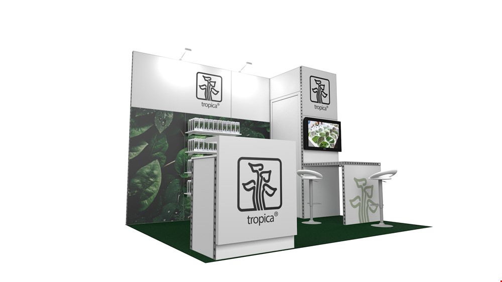 Integra™ Exhibition Stand 4m x 3m Backdrop Kit 10 - To Hire