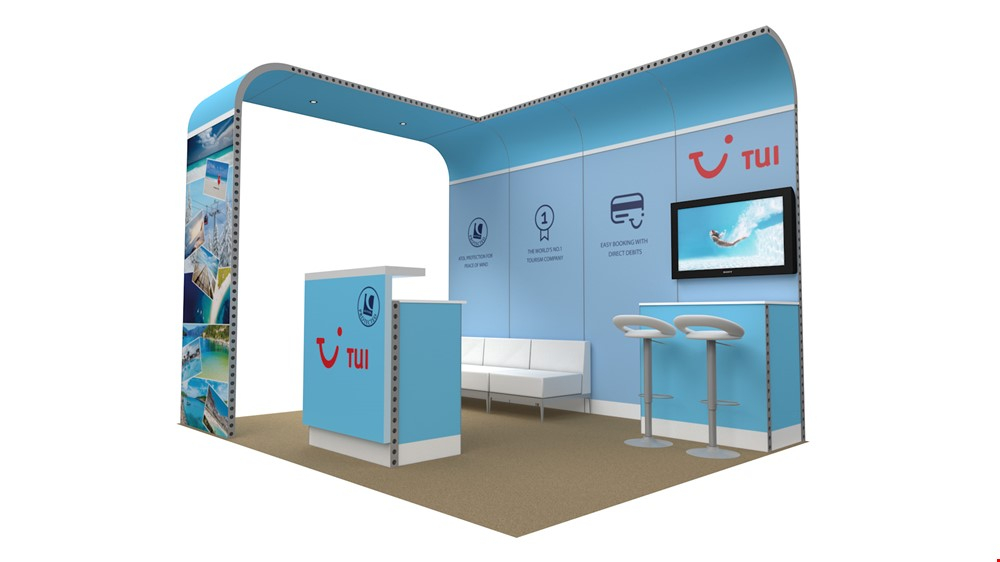 Integra<sup>®</sup> Exhibition Stand 4m x 3m Backdrop Kit 13 - To Hire