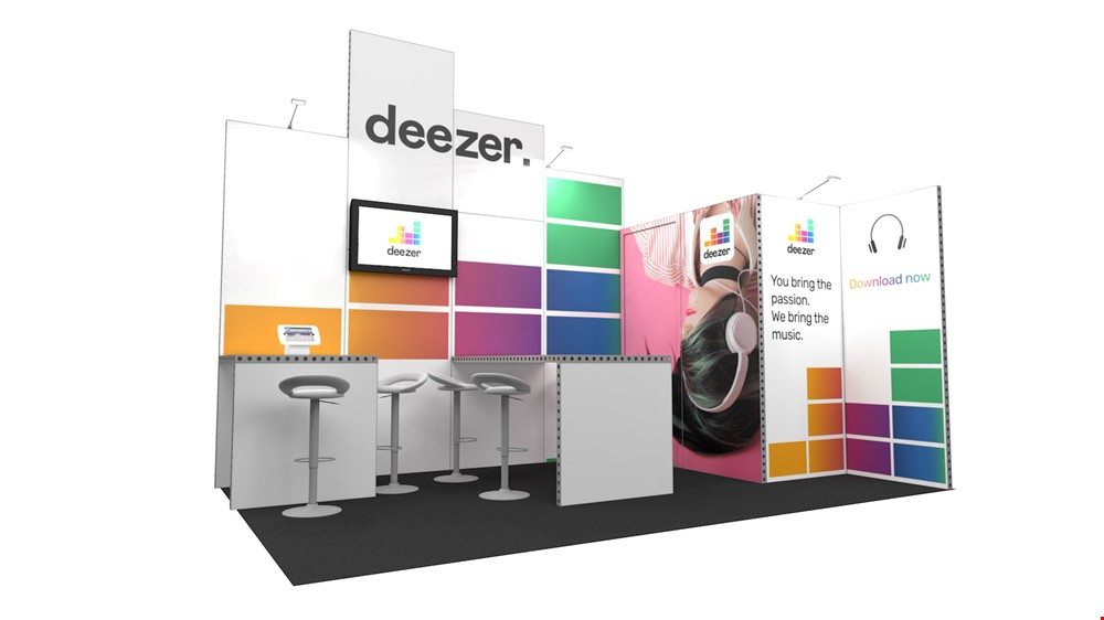 Integra<sup>®</sup> Exhibition Stand 5m x 3m Corner Kit 15 - To Hire