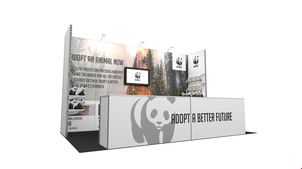 Integra<sup>®</sup> Exhibition Stand 5m x 3m Backwall Kit 37 - To Hire