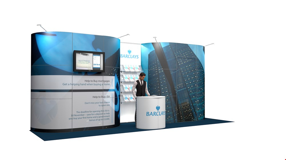 Integra<sup>®</sup> Exhibition Stand 7m x 2m Backwall Kit 29 - To Hire