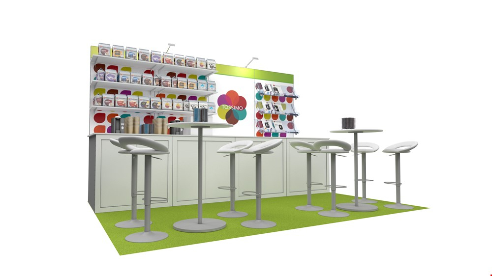 Integra<sup>®</sup> Exhibition Stand 4m x 3m Backwall Kit 40 - To Hire