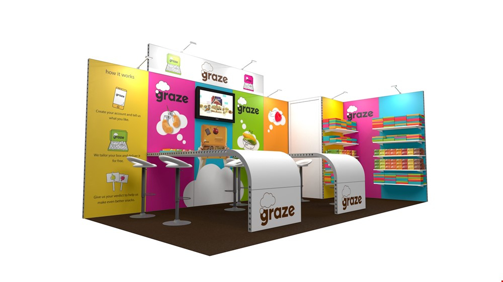 Integra<sup>®</sup> Exhibition Stand 6m x 3m L-Shaped Kit 24 - To Hire