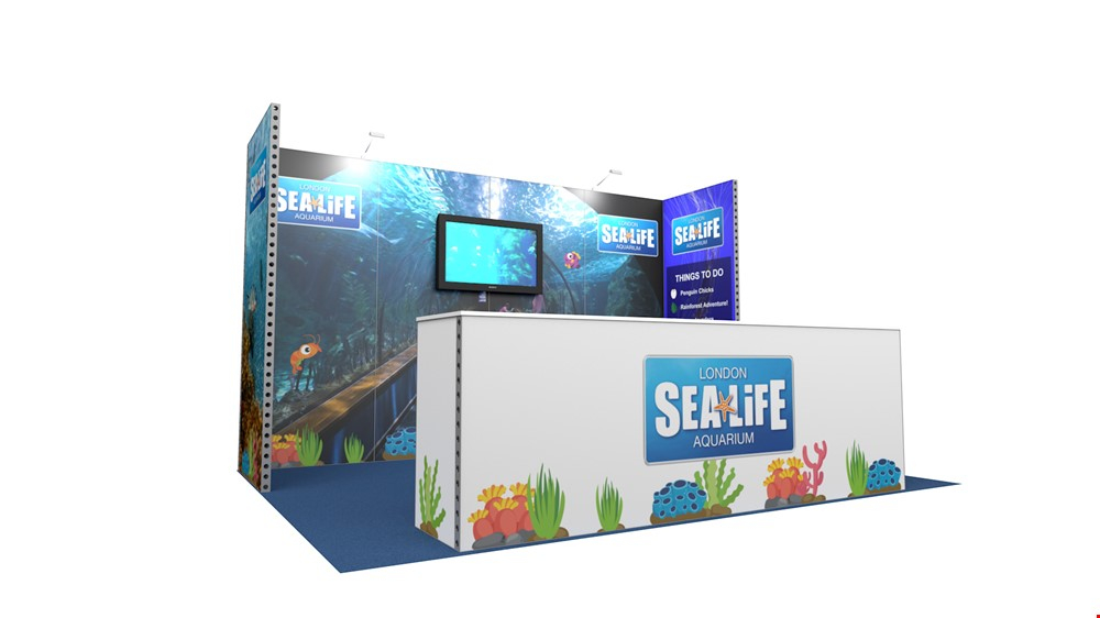 Integra™ Exhibition Stand 4m x 3m Backwall Kit 36 - To Hire