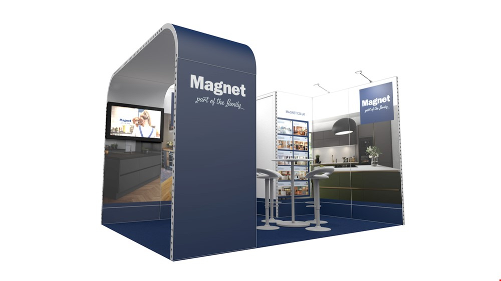 Integra<sup>®</sup> Exhibition Stand 4m x 3m Corner Kit 3 - To Hire