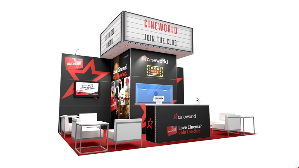Integra<sup>®</sup> Exhibition Stand 6m x 4m Backwall Kit 27 - To Hire