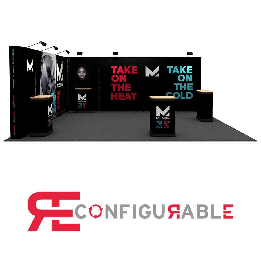 L-Shaped 5m x 6m Pop Up Exhibition Stand