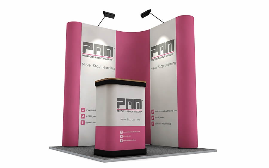 L-Shaped Pop Up Display Stand 2m x 2m