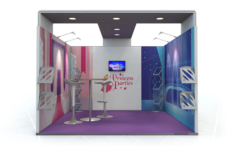 Linear Vector Exhibition Stand 3m x 3m U-Shape