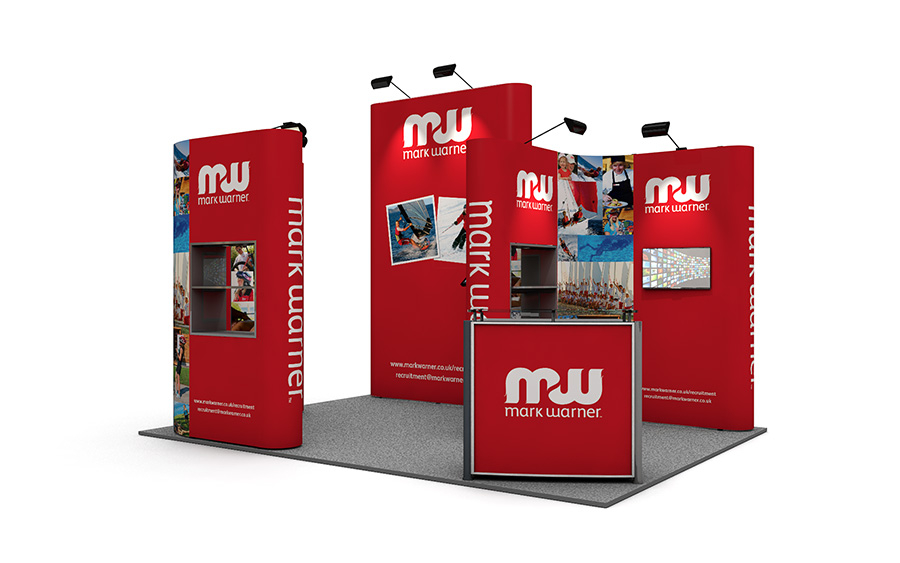 Pop Up Exhibition Stand 3m x 4m