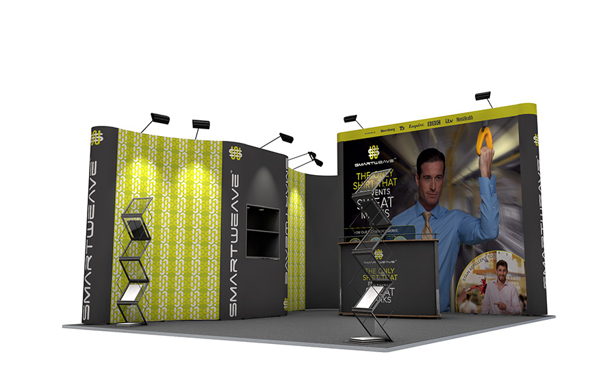 Linked Pop Up Exhibition Stand 5m x 4m