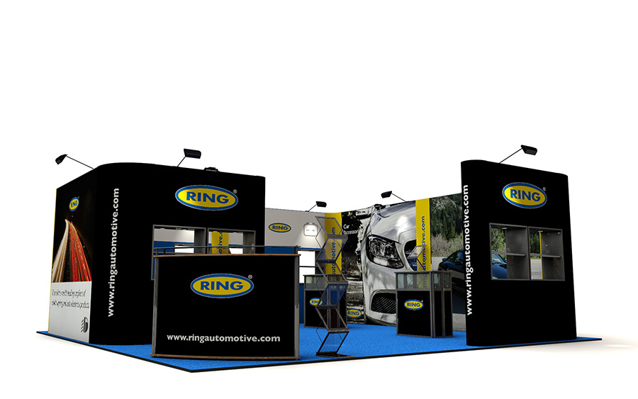 Linked Pop Up Exhibition Stand Booth 6m x 6m