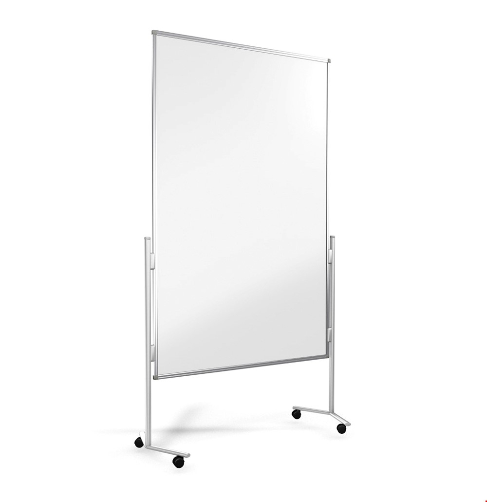 Mobile Plexiglass Sneeze Screen Divider On Wheels
