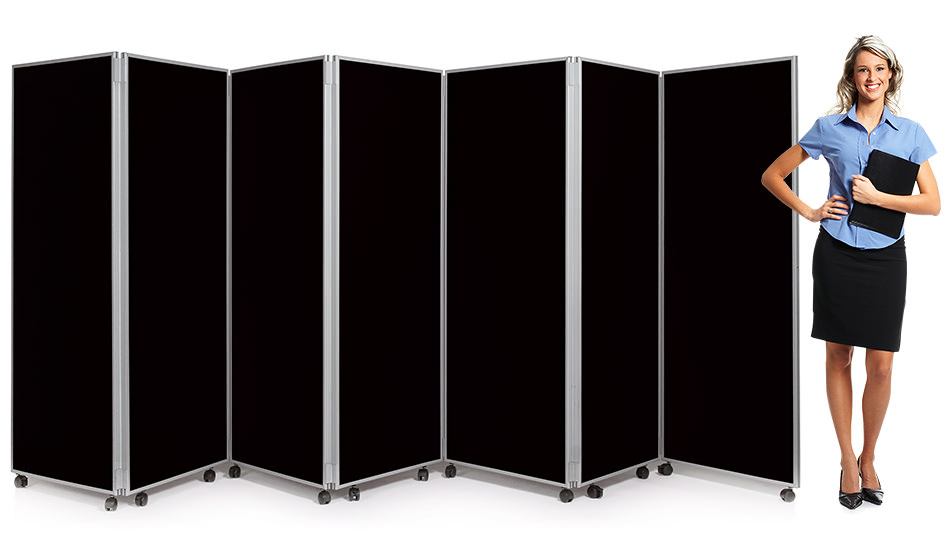 7 Panel Mobile Concertina Screen Room Divider