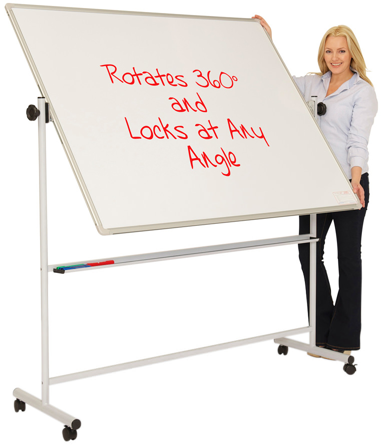 Mobile Swivel Whiteboard on Wheels