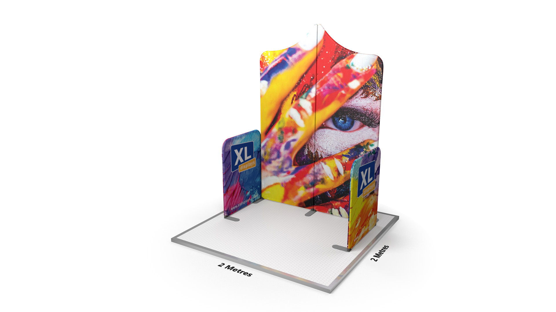 Modulate™ 2m Exhibition Fabric Booth Slope 1