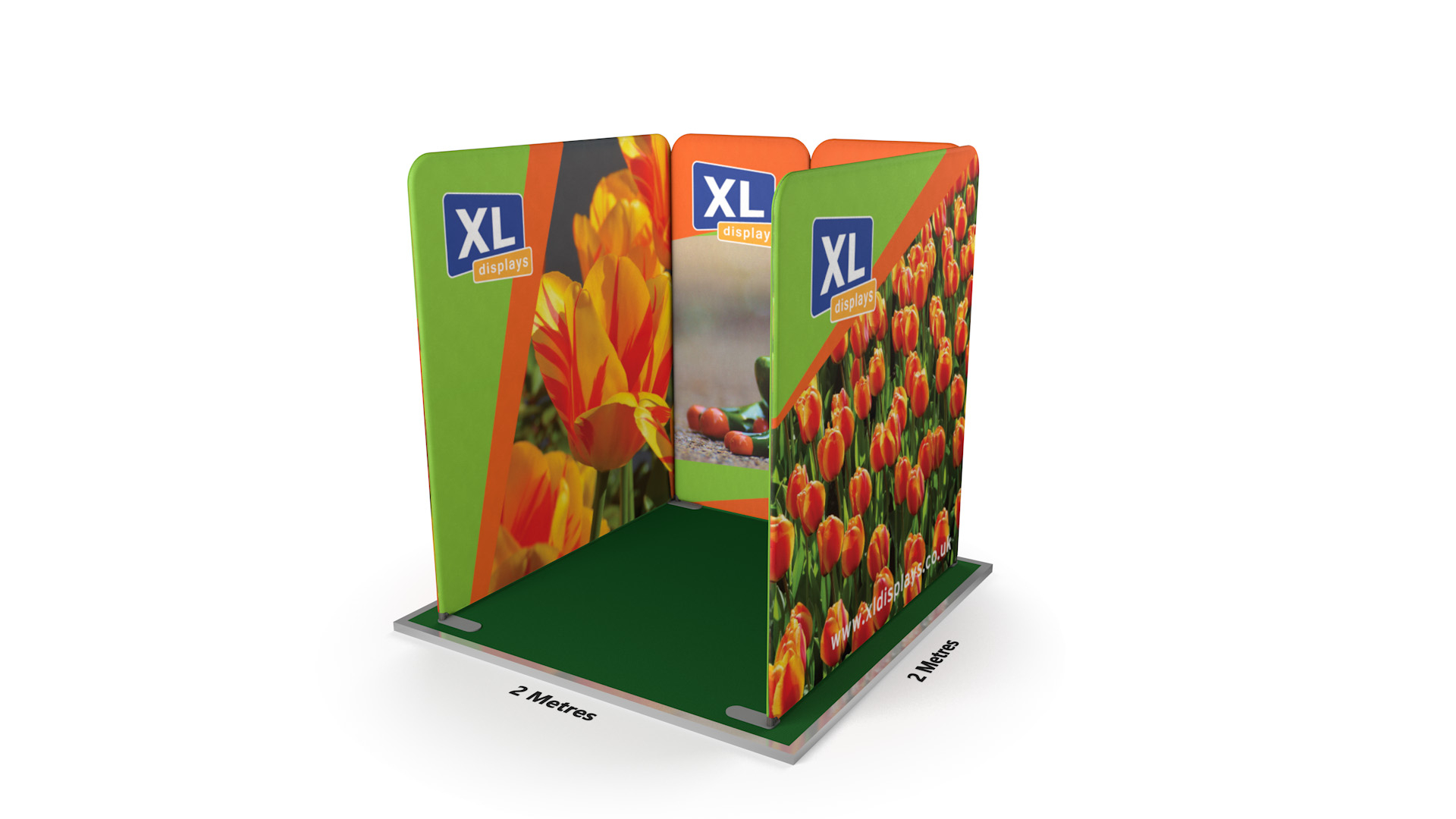 Modulate™ 2m x 2m U-Shaped Fabric Exhibition Stand
