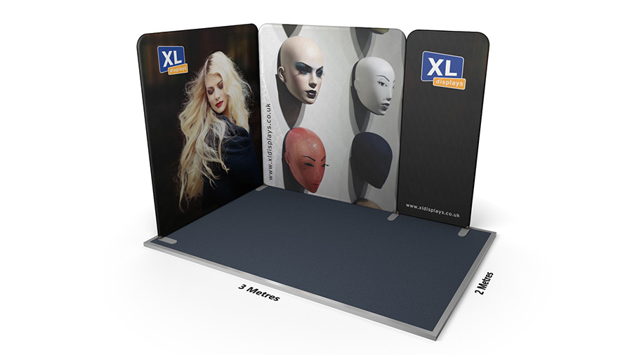 Modulate™ 3m x 2m L-Shaped Stretch Fabric Displays