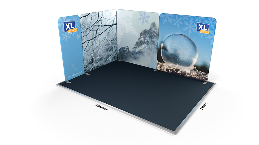 Modulate™ 3m x 4m L-Shaped Fabric Exhibition Stand