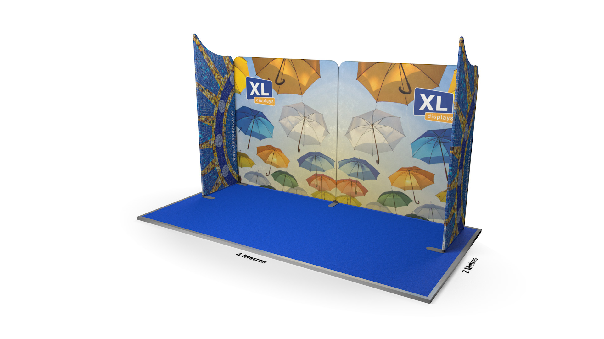 Modulate™ 4m U-Shaped Fabric Display Booth