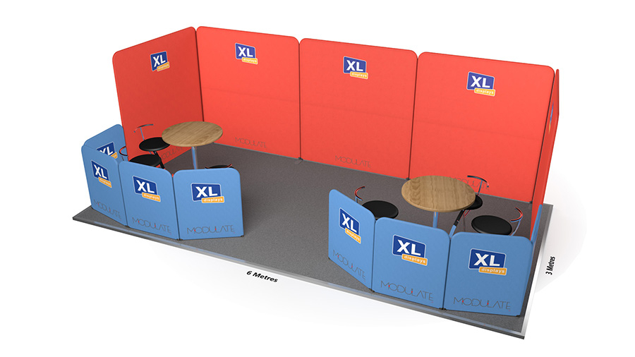 Modulate™ 6m x 3m Fabric Exhibition Stand