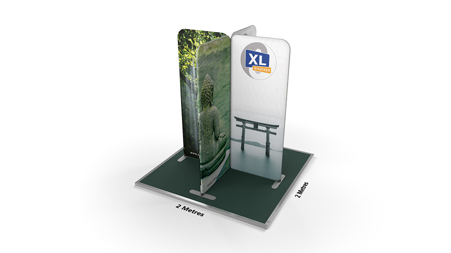 Modulate<sup>™</sup> 2m x 2m Cross Island Fabric Display Stand