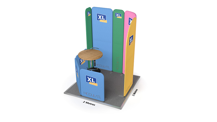 Modulate<sup>™</sup> 2m x 2m Fabric Display Stand with Meeting Booth