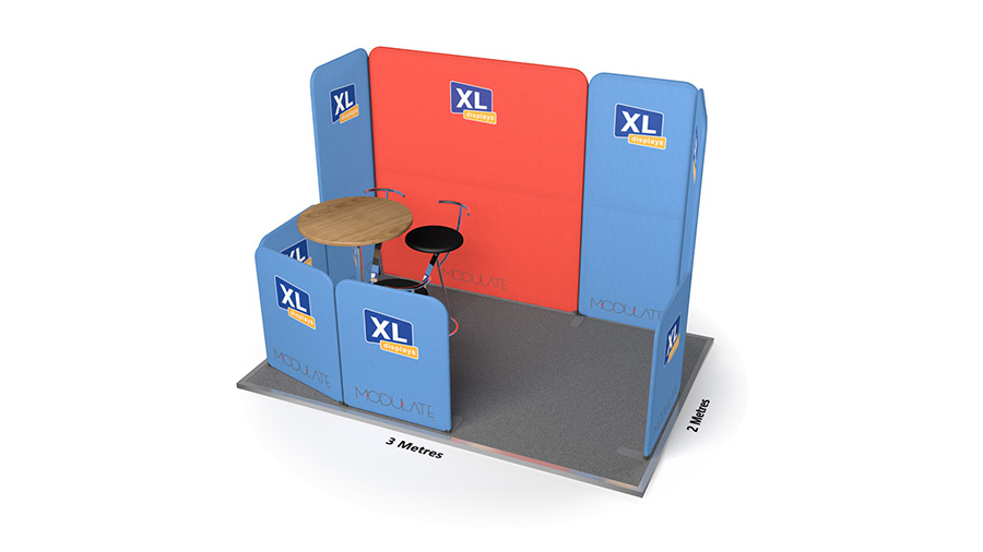 Modulate<sup>™</sup> 3m x 2m Stretch Fabric Exhibition Stand Booth