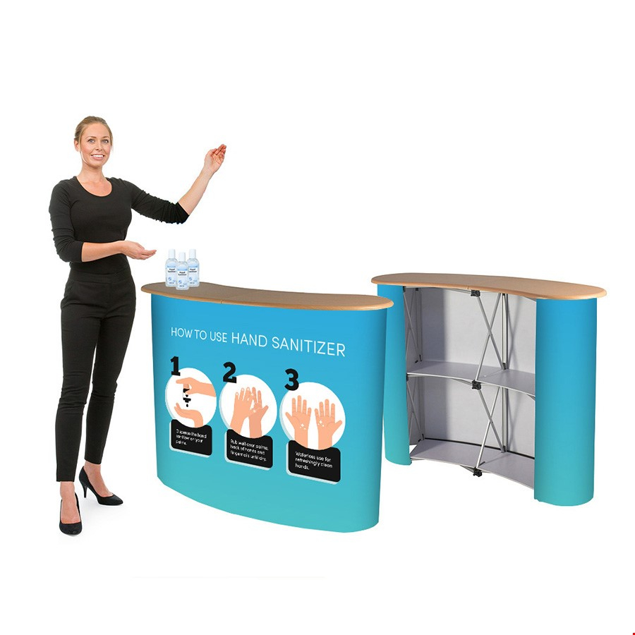 Portable Hygienic Sanitising Pop Up Counter