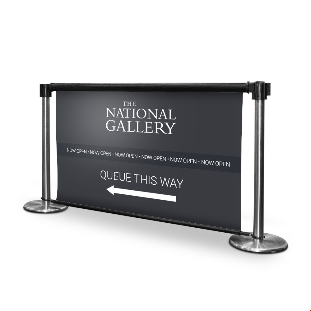Printed Retractable Queue Barriers RollerSigns