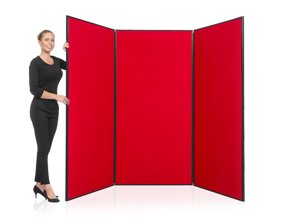 Jumbo Display Board System with 3 Large Folding Panels