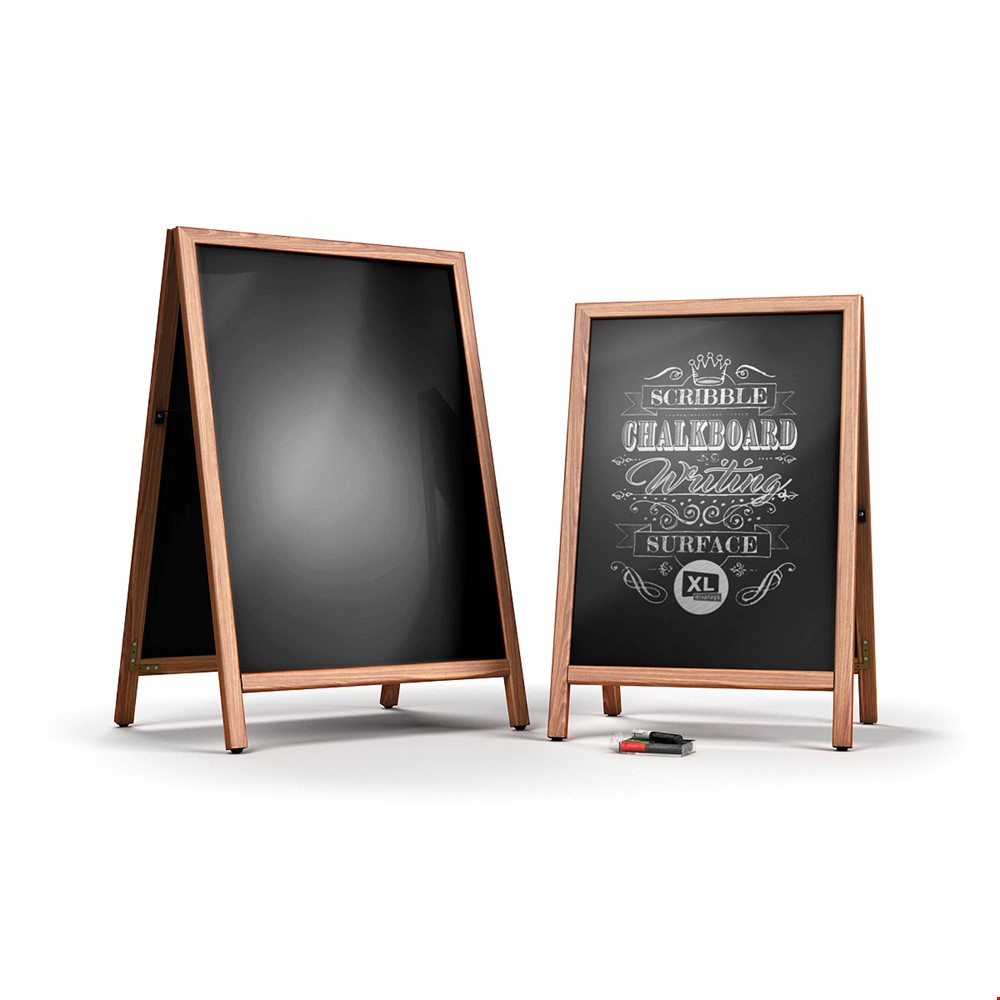 SCRIBBLE Slide-In Double Sided Chalkboard Sign