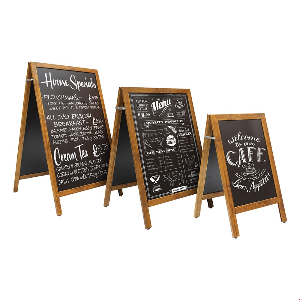 SCRIBBLE<sup>™</sup> Wooden Chalkboard A-Frame