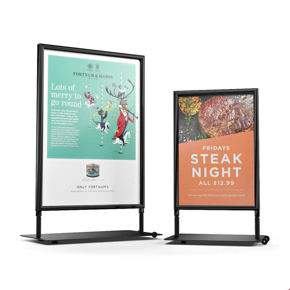 SIDEWALKER Rolling Pavement Outdoor Signage Board